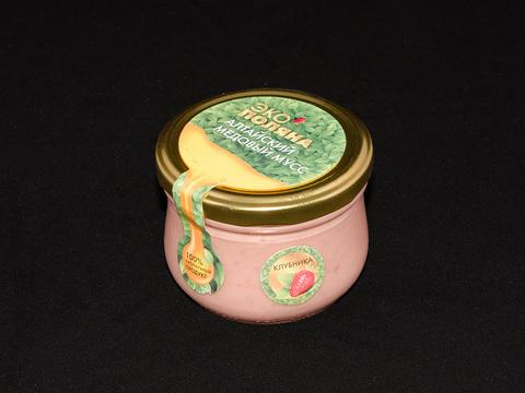 Крем мед с клубникой 250 г