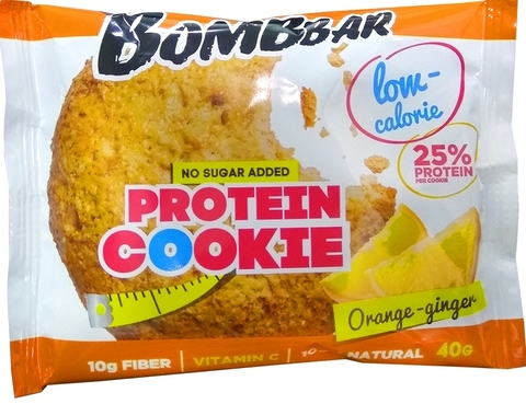 Bombbar печенье апельсин-имбирь 40 г