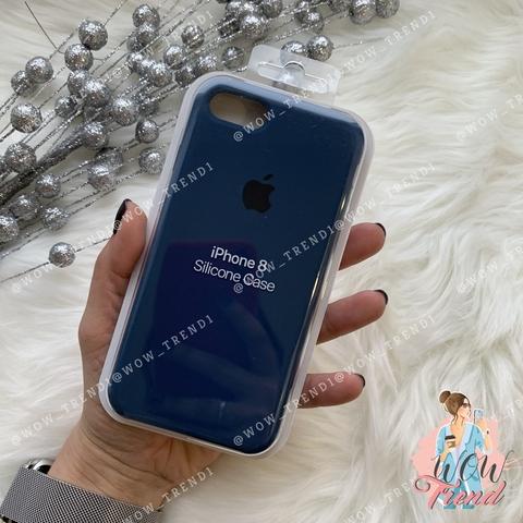 Чехол iPhone 7/8 Silicone Case /blue cobalt/ кобальт 1:1