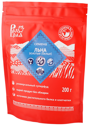 Семена Льна золотые/белые, 200 гр. (Радоград)