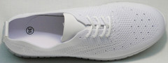 Женские туфли кроссовки из текстиля Small Swan NB-821 All White.