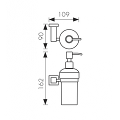 Дозатор для жидкого мыла настенный Kaiser BR Canon KH-4310 схема