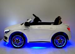 mersedes cla 45 белый детский автомобиль вид сбоку подсветка