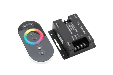 Led controller touch DELUCE 24А, 12/24 Вольт, RF-RGB-S-24A