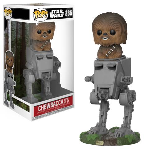 Фигурка Funko POP! Deluxe: Star Wars: Chewbacca in AT-ST 27023