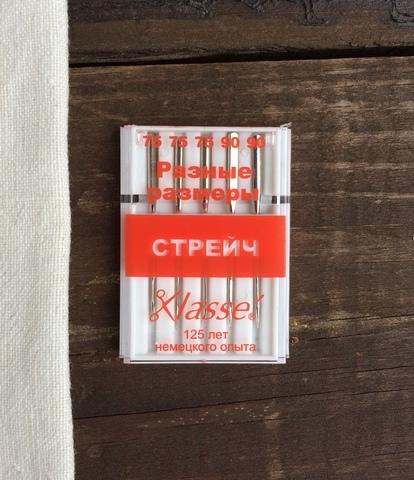 Иглы для бытовых швейных машин Стрейч, №75, 90 Hemline Klasse