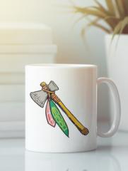 Кружка с рисунком НХЛ Чикаго Блэкхокс (NHL Chicago Blackhawks) белая 001