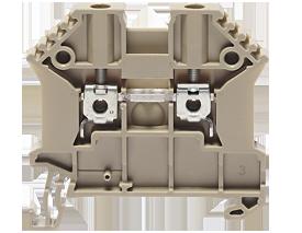 SRK 2,5/2ABG винтовая проходная клемма стандартного бежевого цвета  Артикул: 17100.2