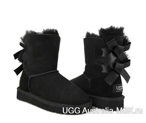 UGG kids bailey bow black