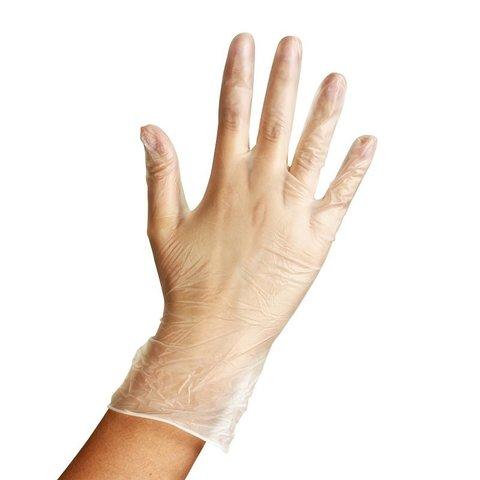 *Перчатки смотровые (Чистовье/Sun Viv/винил/прозрачные/M/100шт/601-754)