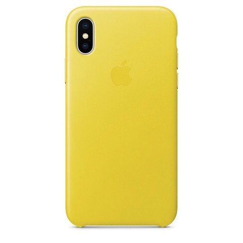 Чехол iPhone XS Max Leather Case /spring yellow/
