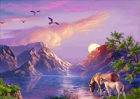 Алмазная Мозаика 40x50 Сказочная природа