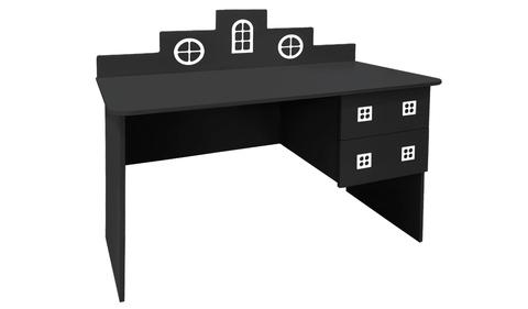 детский письменный стол в виде домика черный