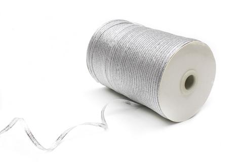 Лента серебряная,0,4 см