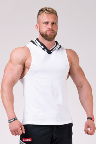 Мужская майка Nebbia Hooded Singlet 173 white