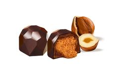Шоколадные конфеты с дроблёным Фундуком