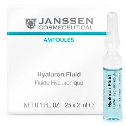 Janssen Ampoules: Ультраувлажняющая сыворотка  для лица в ампулах с гиалуроновой кислотой (Hyaluron Fluid)