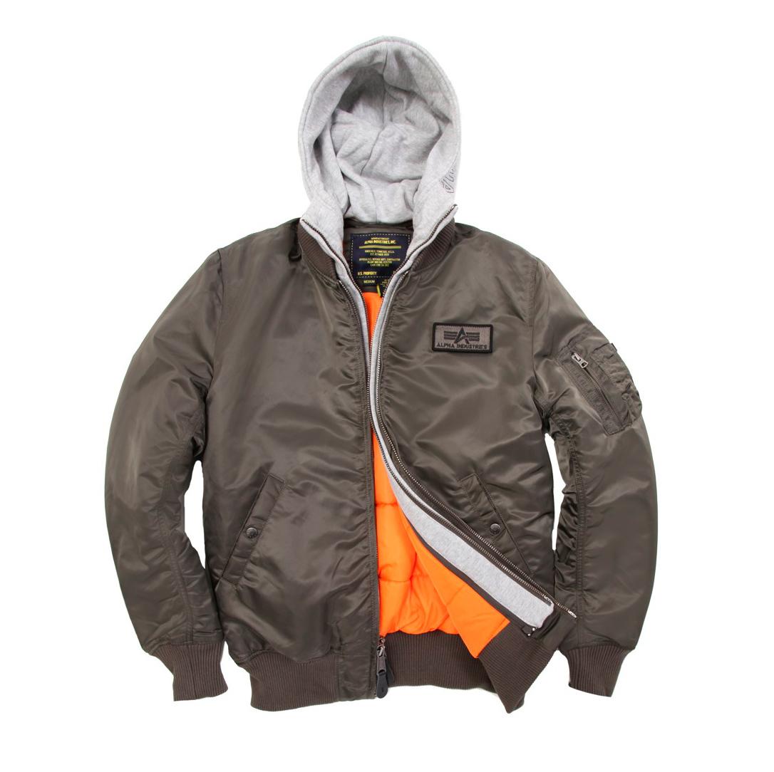 Куртка Бомбер - MA-1 D-TEC Alpha (серая - r.grey)