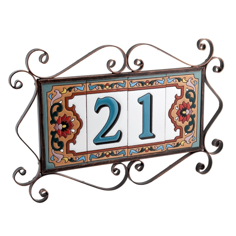 Пример керамической таблички с номером дома