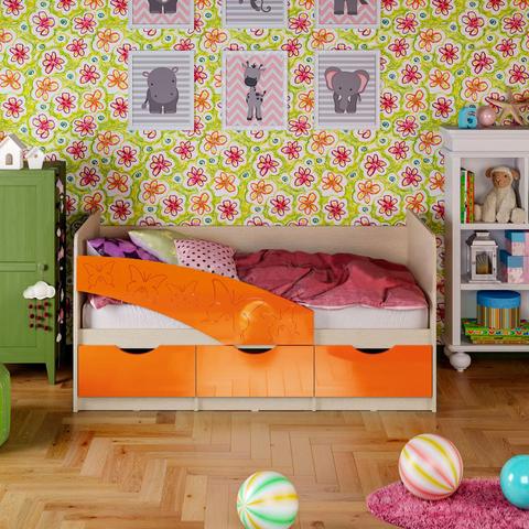 Кровать Бабочки оранжевый