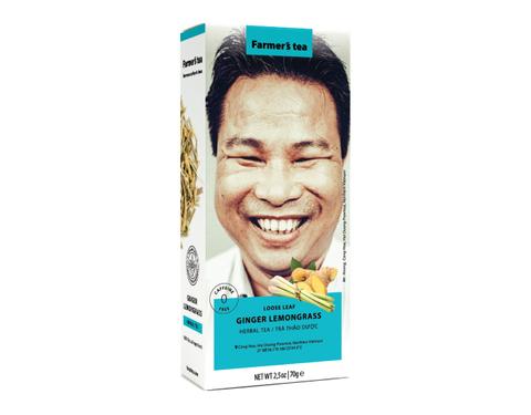Вьетнамский травяной фермерский чай Имбирь и Лемонграсс, Sense of Asia, 100 гр.
