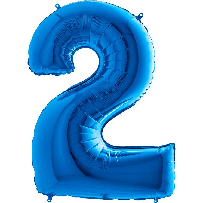 Синяя цифра 2