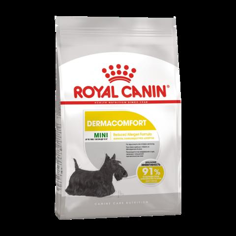 Royal Canin Mini Dermaсomfort Сухой корм для собак мелких пород, склонных к раздражению кожи и зуду