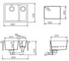 Мойка кухонная TEKA Radea 550/370 - схема