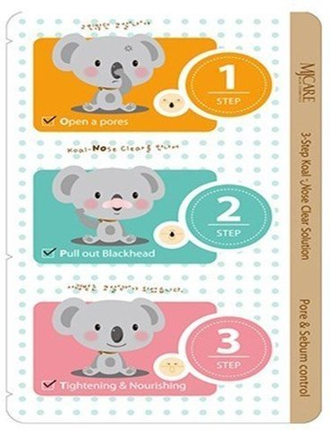 Набор от черных точек Mijin 3-Step Koala Nose Clear Solution