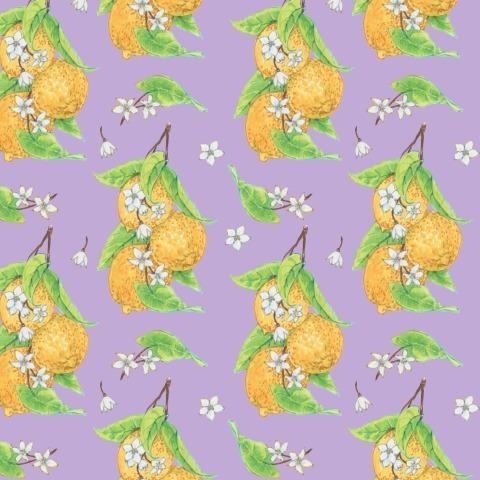 Лимоны на лиловом