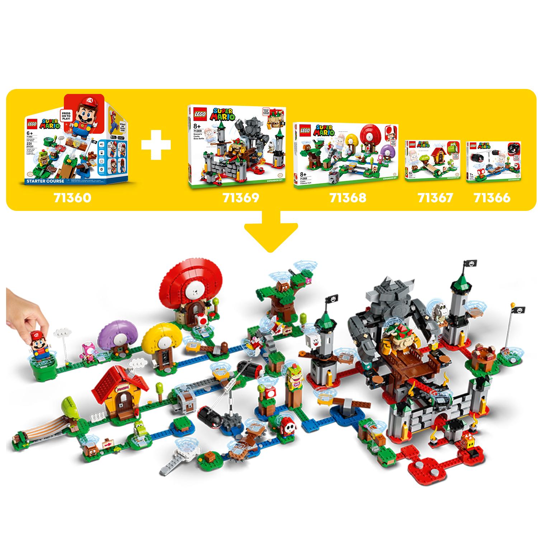 Конструктор LEGO Super Mario 71365 Дополнительный набор Мощная атака Растения-пираньи