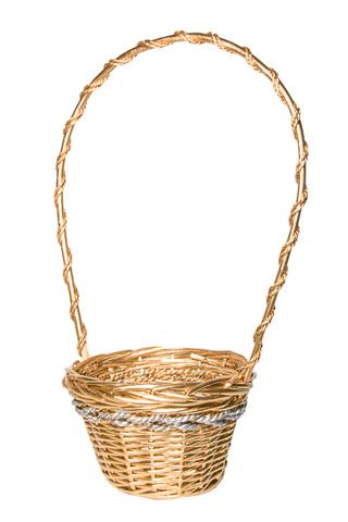 Корзина плетеная (ива), D22x14,7xH54см, золотой