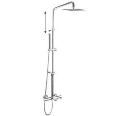 Душевая система с термостатом и тропическим душем для ванны  DRAKO 335602RPK225