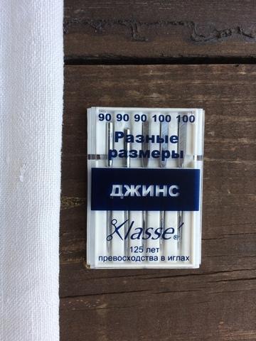 Иглы для бытовых швейных машин Джинс, №90, 100 Hemline Klasse