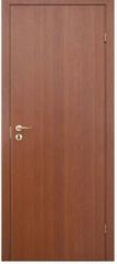 ОЛОВИ Дверное полотно гладкое глухое ламинированное итальянский орех 900х2000х35мм с фурнитурой