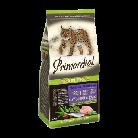 Primordial Neutered Сухой корм для стерилизованных кошек с индейкой и сельдью (беззерновой)