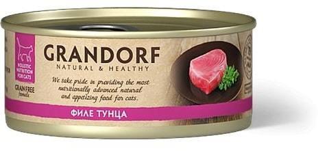 Купить консервы для кошек Грандорф с тунцом