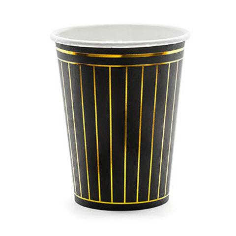 Стаканы Black&Gold Линии, 6 штук