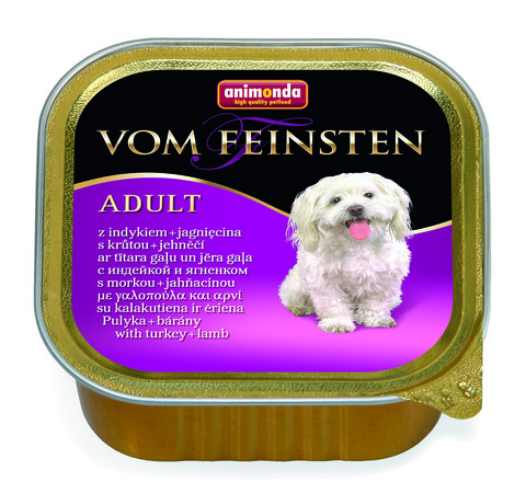 Консервы Animonda Vom Feinsten Adult с индейкой и ягненком для взрослых собак