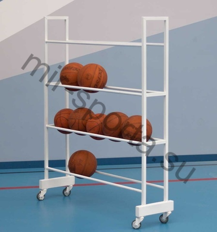 Тележка-стеллаж для перевозки и хранения мячей