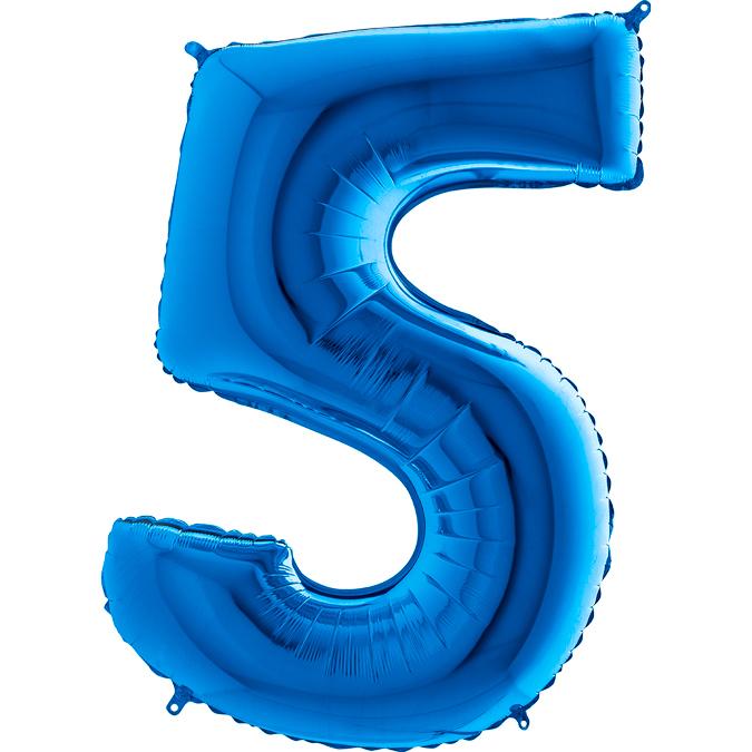 Синяя цифра 5