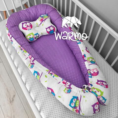 Кокон (гнездышко) для новорожденных Warmo™ СОВЫ