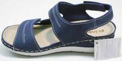 Модные спортивные сандали кожаные женские Inblu CB-1U Blue.