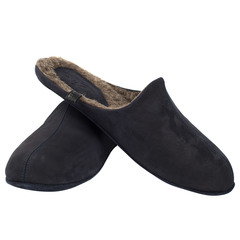 778137 туфли домашние мужские синие шерсть больших размеров марки Делфино