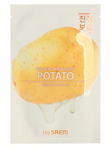 СМ Маска на тканевой основе для лица с экстрактом картофеля Natural Potato Mask Sheet 21мл