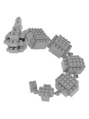 Конструктор Wisehawk & LNO Покемон Оникс 135 деталей NO. 106 Onyx Pokemon Gift Series