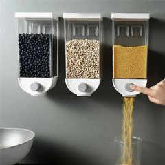 Настенный контейнер для сыпучих продуктов с дозатором