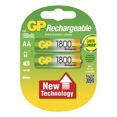 Аккумуляторы GP Ni-MH AA (R6) 1800 mAh