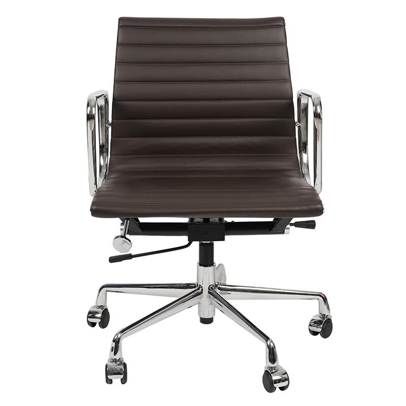 Кресло Eames Style Ribbed Office Chair EA 117 кофейная кожа - вид 2