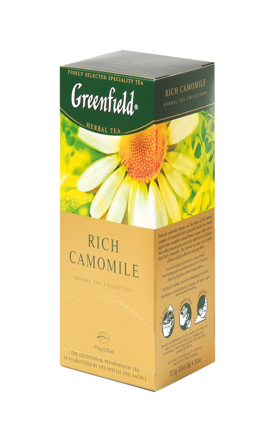 Greenfield Rich Camomile в пакетиках, 25 шт